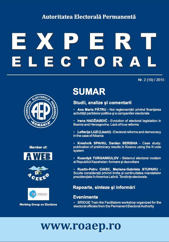 Coperta expert electoral 10