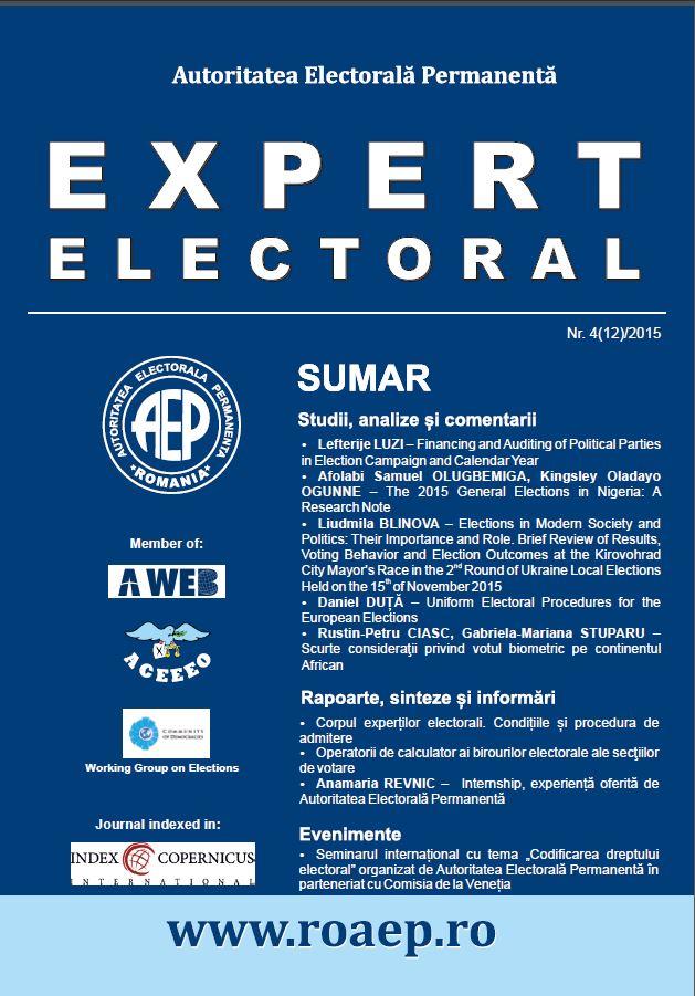 Coperta expert electoral 12