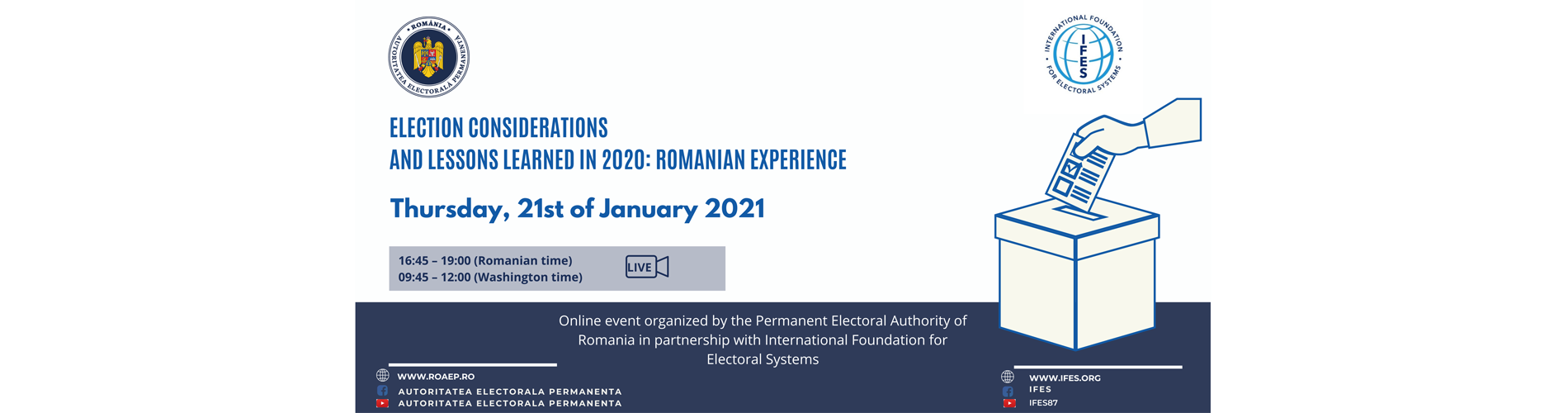 Election Considerations and Lessons Learned in 2020: Romanian Experience
